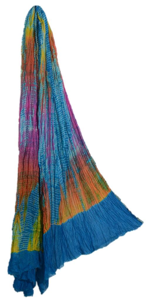 HandWoven Leheriya Kota Doria Cotton Dupatta MulticolouredBlue : Picture