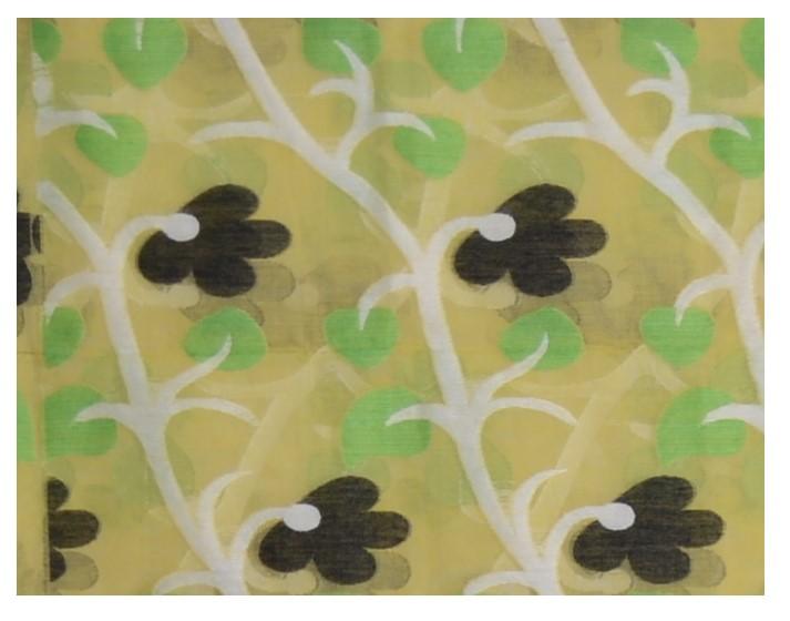 Bengal Handloom Silk Cotton All Over Jamdani Saree Lemon Yellow White : Picture