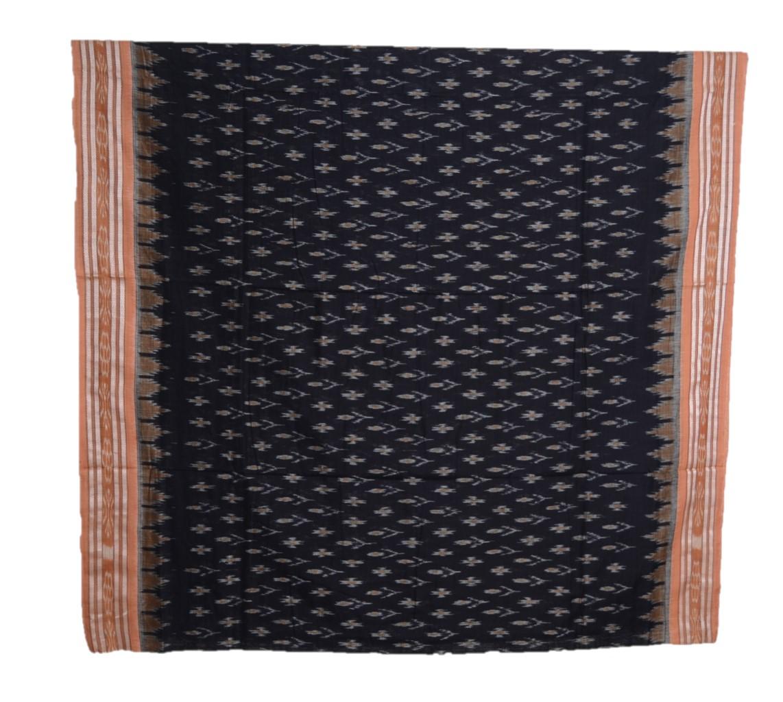 Orissa Handloom Sambalpuri Cotton Body Bandha Full Ikat Saree Black : Picture