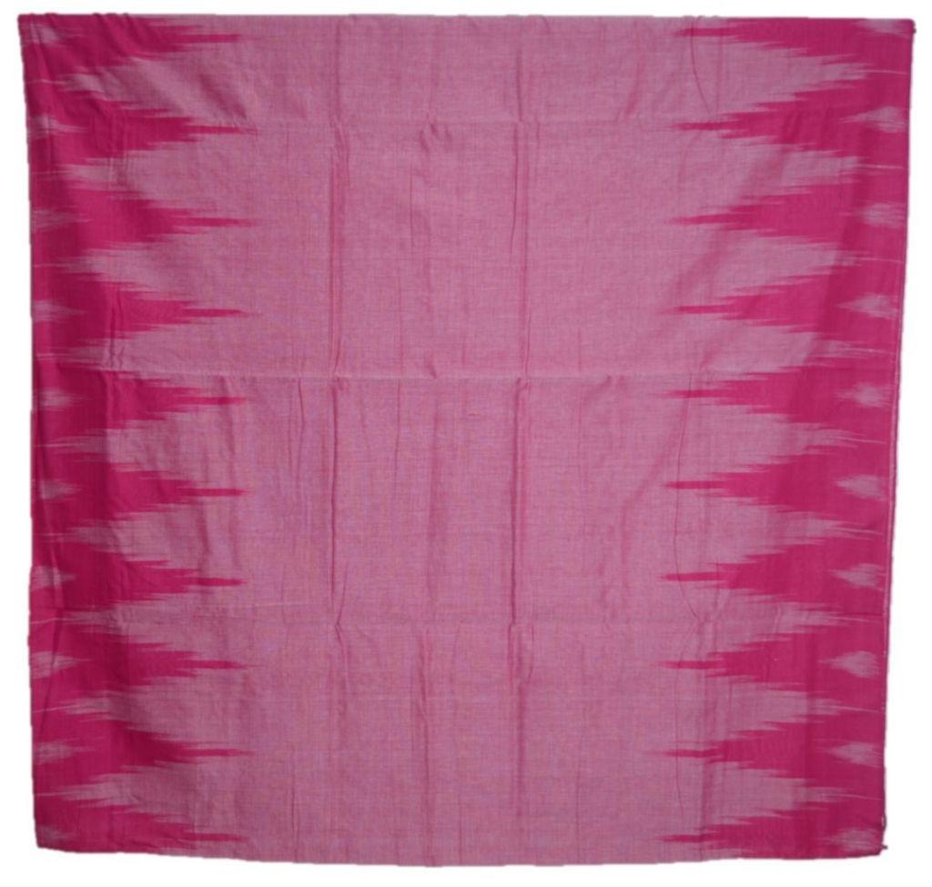 Orissa Handloom Sambalpuri Cotton Aanchal Ikat Temple Border Saree Pink : Picture