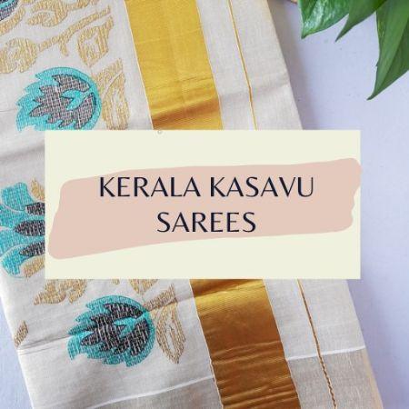 Kerala Kasavu Sarees : Picture