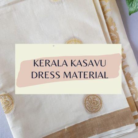 Kerala Kasavu Dress Material : Picture