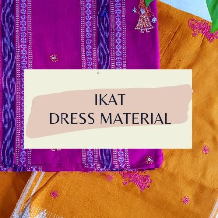 Ikat Dress Material : Picture